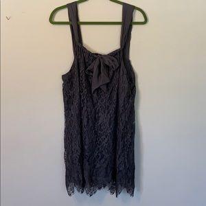 Gray lace dress